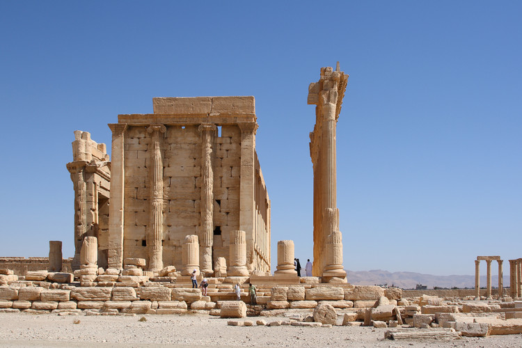 Saving Palmyra: A Discussion with Yale's Cultural Heritage Expert Stefan Simon, Temple of Bel, Destroyed by ISIS, August 2015. Image © Flickr User: Jiří Suchomel licensed under CC BY-NC-ND 2.0
