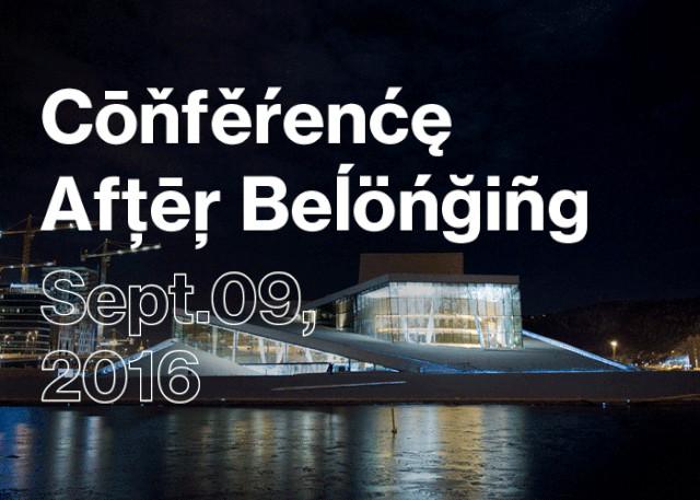 2016 Oslo Architecture Triennale Conference