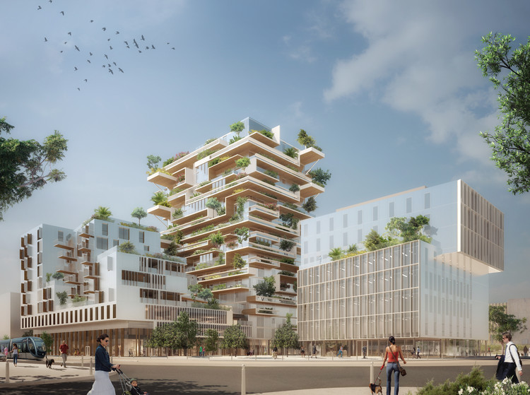 Jean-Paul Viguier Designs a Mixed-Use Timber Frame Tower in Bordeaux, Courtesy of Jean-Paul Viguier et Associés