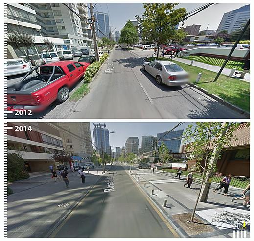 Calle Rosario Norte, Santiago. Image © Urb-i