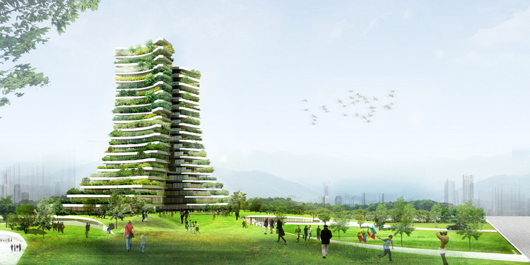 Vo Trong Nghia Proposes Green City Hall for Bac Ninh City, Courtesy of Vo Trong Nghia Architects