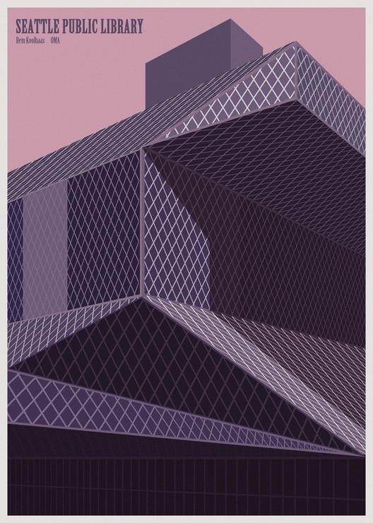 André Chiote reimagina las bibliotecas del mundo como ilustraciones minimalistas, © André Chiote