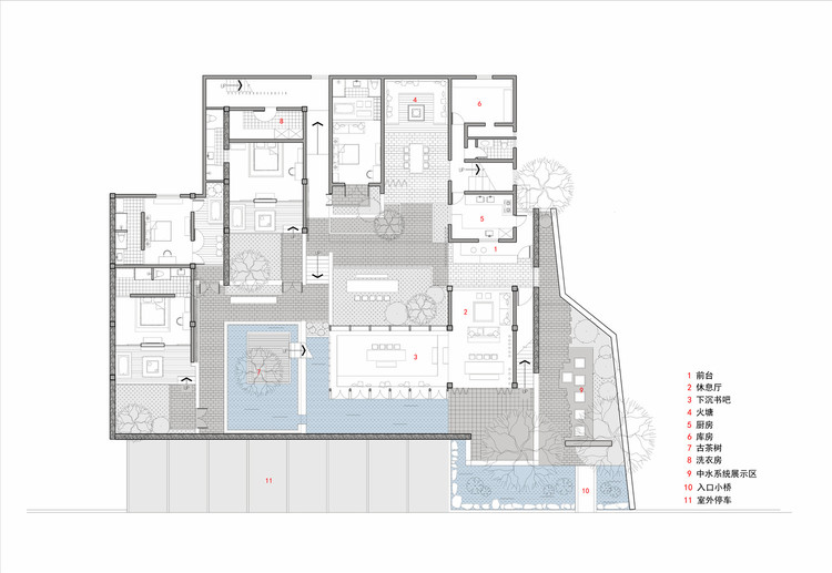 Dali munwood lakeside resort hotel init design office for Lakeside floor plan