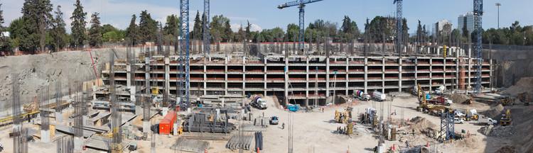 Sitio en construcción. © Sordo Madaleno Arquitectos, fotografía por HH Fotografía