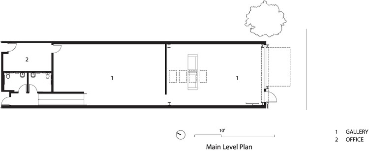 Main Level Plan. © Olson Kundig