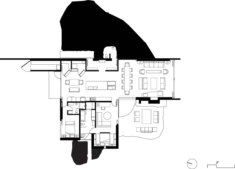 Floor Plan. © Olson Kundig