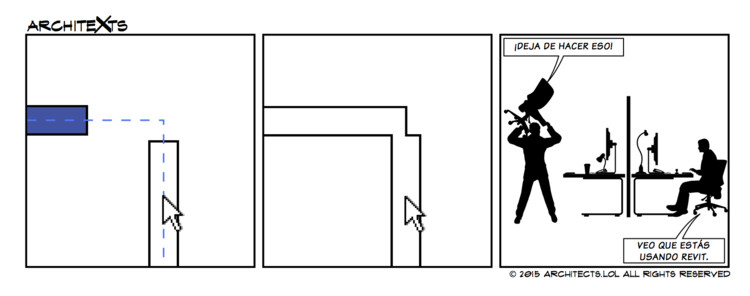 "Comic Break: ""Perdiendo la paciencia con Revit"", © Architexts"