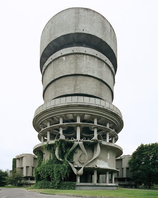 The Balneological Hospital Water Tower in Druskininkai, Lithuania. Image via Metropolis Magazine