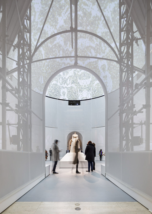 "Preview OMA's Installation for Met Museum Exhibition ""Manus x Machina"", © Albert Vecerka and OMA"