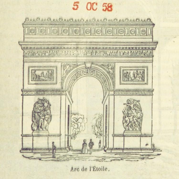 """""""[Paris historique et monumental depuis son origine jusqu'en 1851 ... illustré d'un grand nombre de vignettes et de deux plans. Par B. R[enault?]"""". Imagen cortesía de la Biblioteca Británica"""