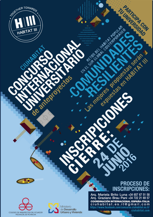 CIU HABITAT: Concurso Internacional Universitario de anteproyectos , COORDINACIÓN INTERNACIONAL CIUHABITAT: MARIELA BRITO