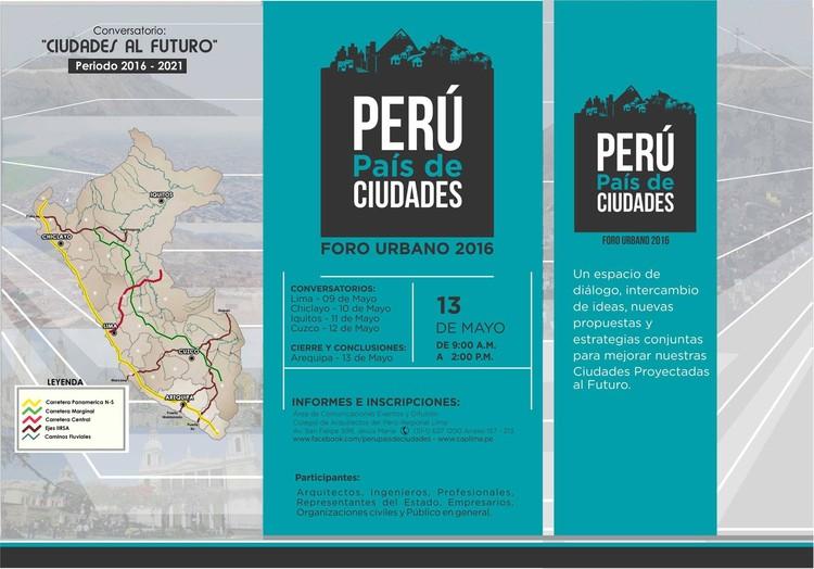 """Conversatorios: """"Ciudades al Futuro"""" / Lima, Chiclayo, Iquitos, Cusco y Arequipa, Cortesía de Organizadores del Foro Urbano 2016"""