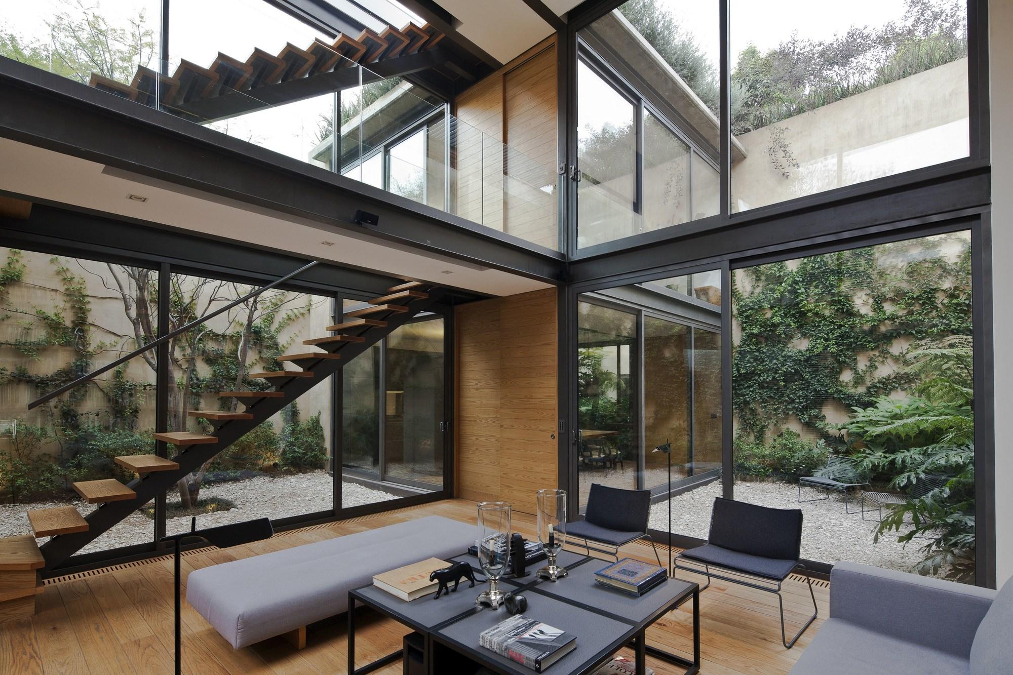 Galer a de casa de los cuatro patios andr s stebelski arquitecto 1 - Houses large patios ...