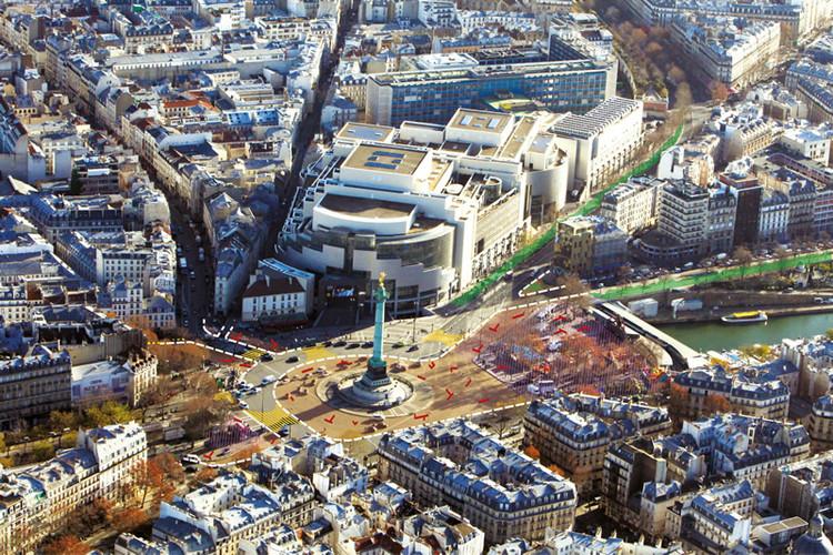 Plaza de la Bastilla. Image © Sophie Robichon. Fuente: Ayuntamiento de París