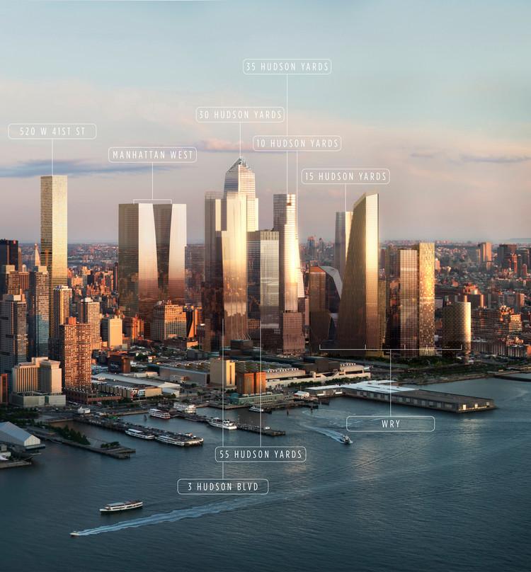 Hudson Yards. Image Courtesy of VISUALHOUSE