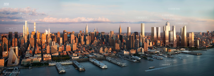 New York 2030: This Annotated Visualization Shows Us the Manhattan of the Future, Courtesy of VISUALHOUSE