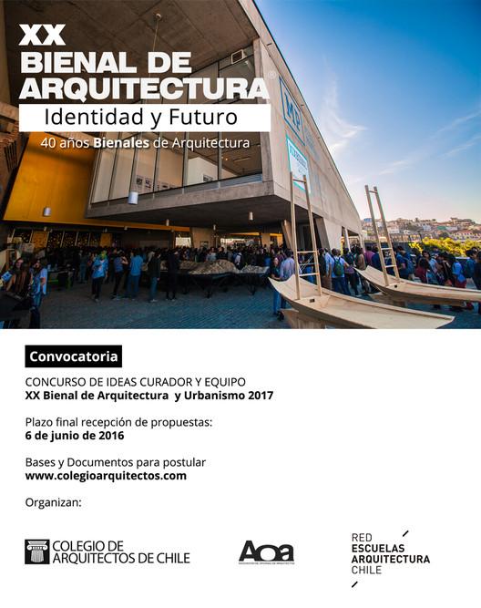 Abren convocatoria para seleccionar curador/a de la XX Bienal de Arquitectura de Chile
