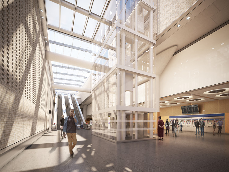 Paddington Station, Proposed Ticket Hall. Image Courtesy of Crossrail