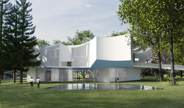 Steven Holl diseña el nuevo edificio de Artes Visuales para Franklin & Marshall College, Exterior, vista diurna. Imagen cortesía de Steven Holl Architects