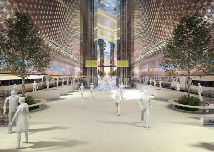 La propuesta de Grimshaw. Imagen cortesía de Heathrow Media Centre