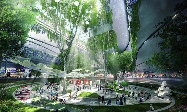 La propuesta de HOK. Imagen cortesía de Heathrow Media Centre