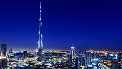 Esta propuesta busca proyectar la silueta de siete rascacielos en la fachada del Burj Khalifa
