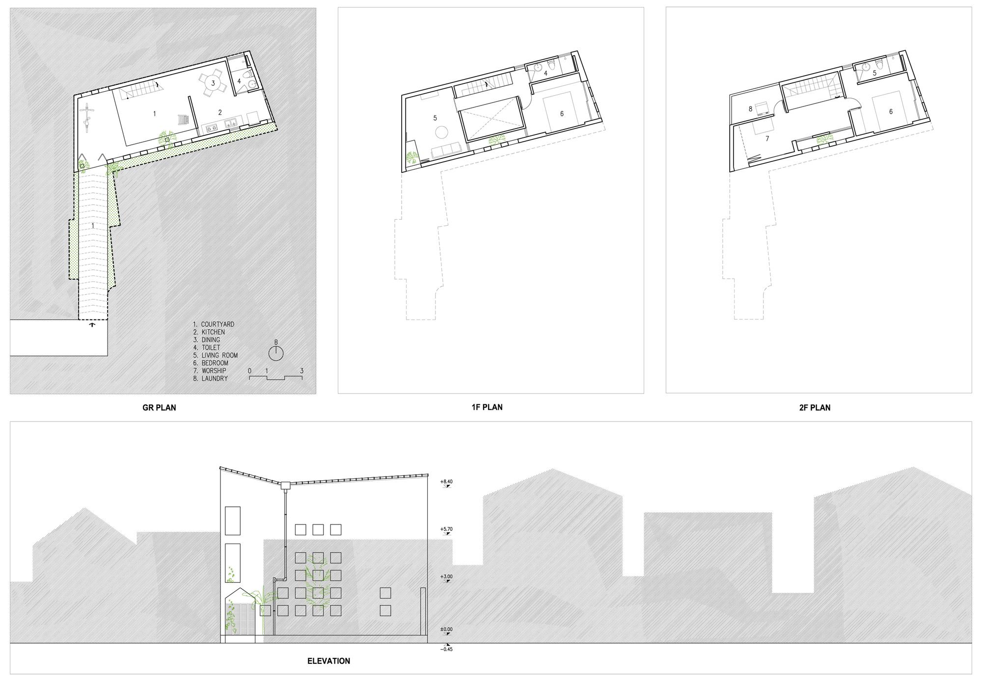 Gallery of the cul de sac house nguyen khac phuoc for Cul de sac house plans