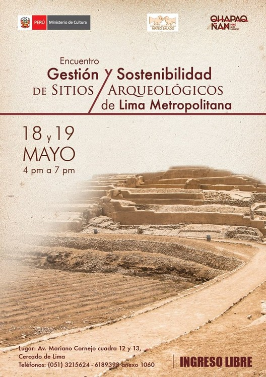 Encuentro: Gestión y sostenibilidad de sitios arqueológicos de Lima Metropolitana / Huaca Mateo Salado, Cortesía de Qhapaq Ñan Perú