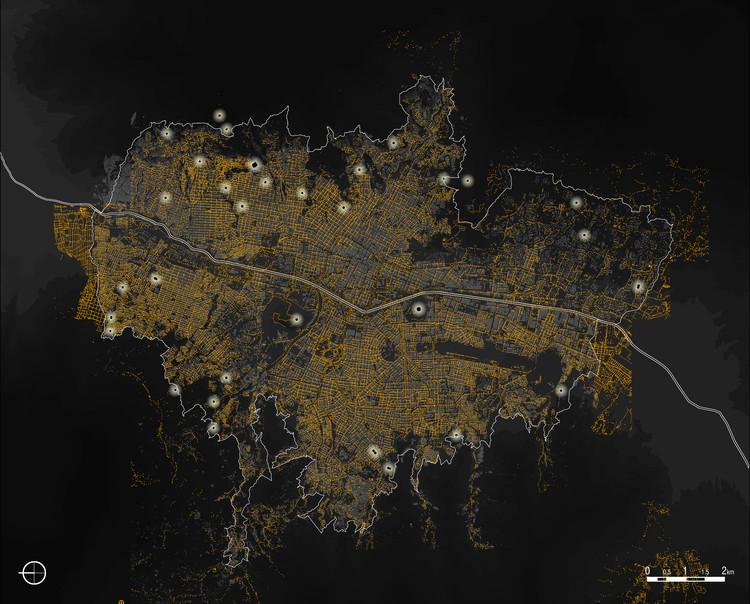 Mapeo de iluminación nocturna en Medellín. Image Cortesía de EPM