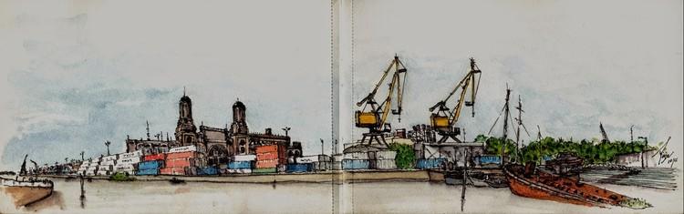 Adhemar Orellana - Ciudad autónoma de Bs. As. Image vía Croquiseros urbanos - Bs.AS.