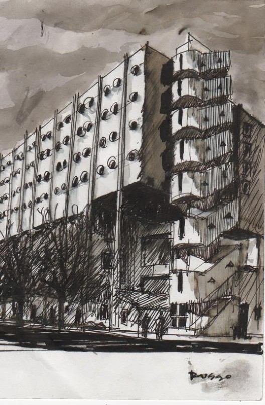 Leonardo Russo - Ciudad autónoma de Bs. As. Image vía Croquiseros urbanos - Bs.AS.