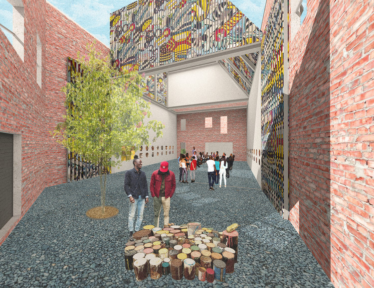 LOHA Unveils Plans for the Renovation of Detroit's African Bead Museum, Courtesy of Lorcan O'Herlihy Architects (LOHA)