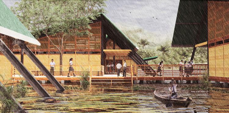 """Proyecto """"Plan Selva"""", adaptación a las condiciones de inundación del Amazonas. Image © Ministerio de Educación"""
