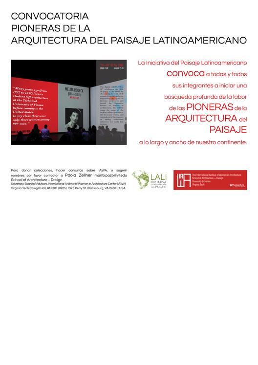 Convocatoria 'Pioneras de la arquitectura del paisaje latinoamericano', LALI - IAWA