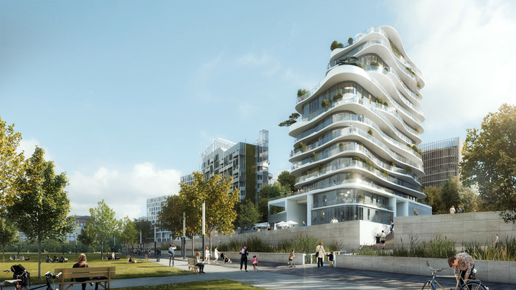MAD Unveils Organic and Asymmetrical Tower in Paris' Clichy-Batignolles, Courtesy of MAD Architects