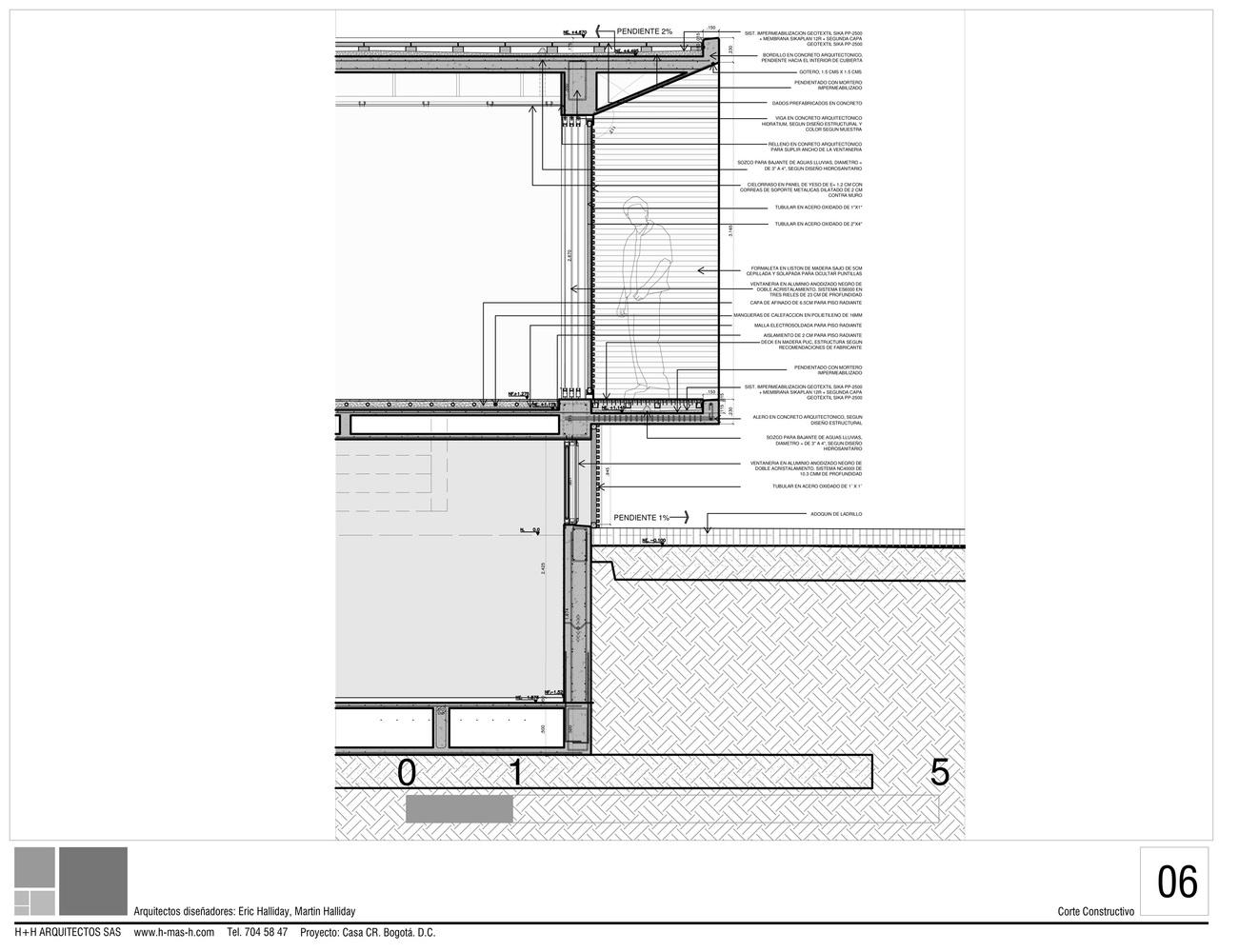 Gallery of cr house h h arquitectos 16 for Arquitectura nota de corte