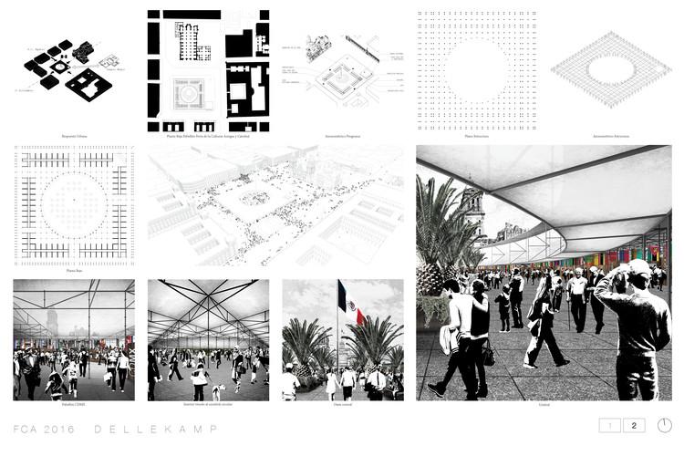 Proyecto conceptual finalista por Dellekamp Arquitectos. Image Cortesía de Dellekamp Arquitectos
