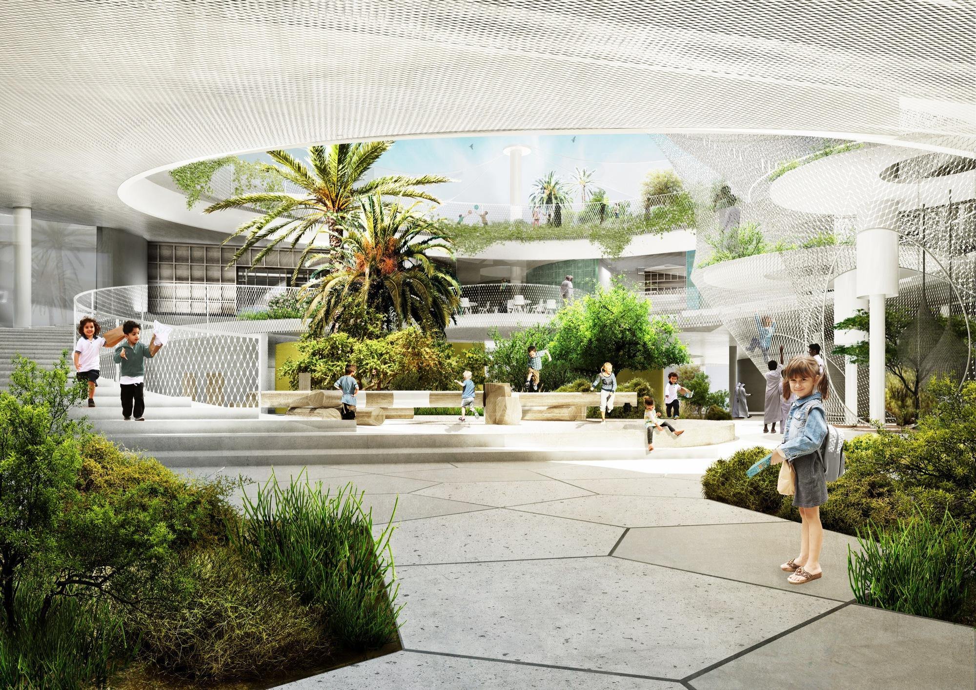 Gallery of cebra and sla design a school for the for Home garden design dubai