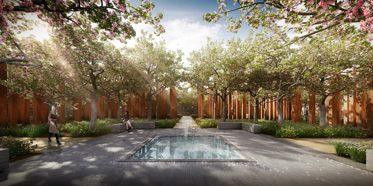 CHROFI and McGregor Coxall Propose a Woodland Cemetery Without Headstones, Courtesy of CHROFI