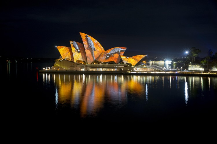 Vivid Sydney Makes a Light Show of the City's Harbour and Beyond, Opera House Songlines. Image Courtesy of Destination New South Wales
