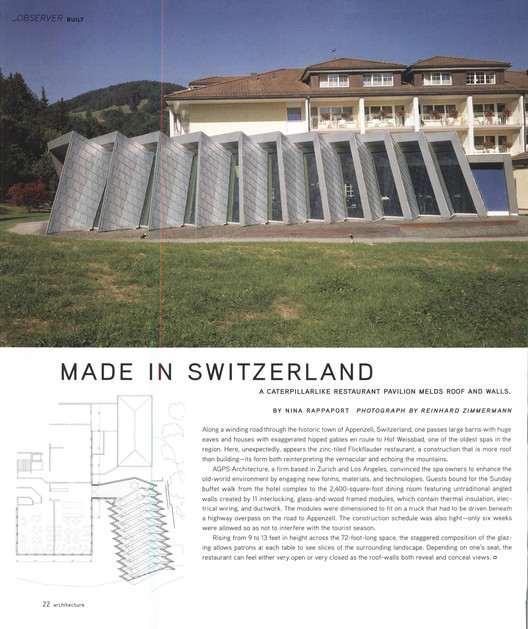 Architecture, August 2006 Page 14. Image via Colossus