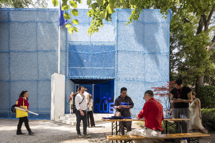 BLUE: Architecture of Peacekeeping Missions / curated by Malkit Shoshan. The Netherlands' Pavilion at the 2016 Venice Biennale. Image © Laurian Ghinitoiu