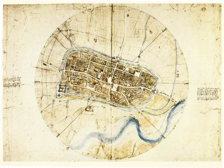 CityLab Article Details da Vinci's Technically Astounding Map of Imola, Public domain, via <a href='https://creativecommons.org/licenses/by-sa/3.0/'>Wikimedia</a> Commons