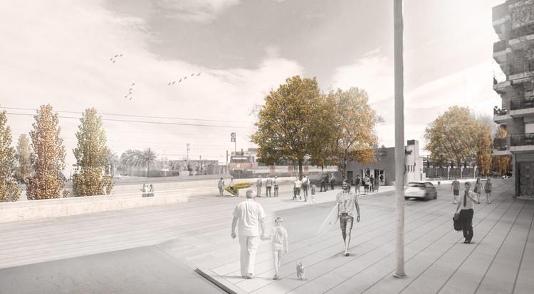 Proyecto ganador - De la ciudad al mar, Sant Adrià del Besós. Image vía Pa(i)sssatge - Data Arquitectura i enginyeria S.L.P. (E)