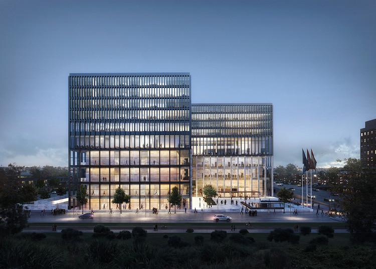 KAAN Architecten gana concurso para diseñar nuevo Tribunal de Ámsterdam, Cortesía de Beauty & The Bit; KAAN Architecten
