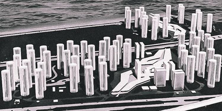 """Exposição """"Paraíso Ocupado"""" no Studio-X Rio, Plano diretor Centro da Barra, projetado por Oscar Niemeyer. Image via Studio-X Rio"""