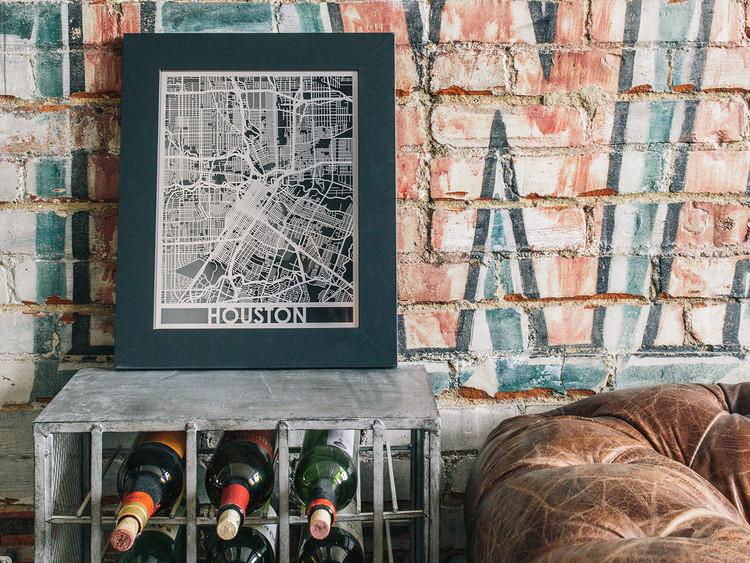 Mapa de ciudad en acero inoxidable, 11x14 pulgadas. Imagen cortesía de Cut Maps