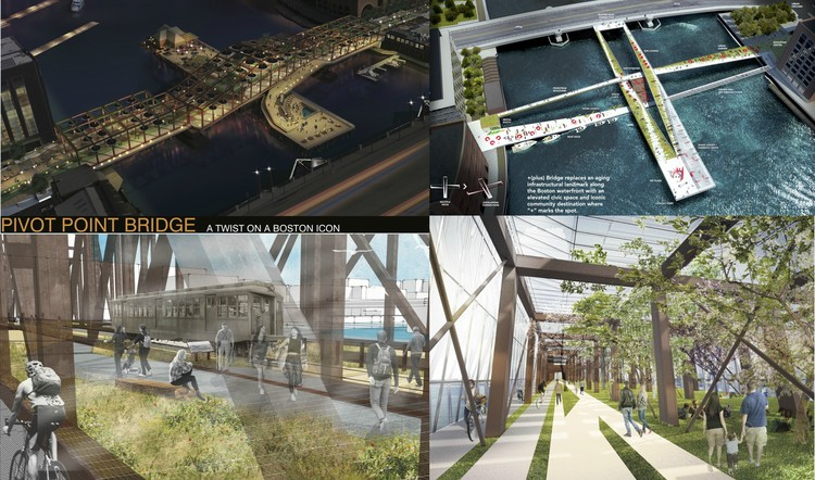 Boston Society of Architects Announces Northern Avenue Bridge Ideas Competition Winners, Courtesy of the City of Boston and the Boston Society of Architects