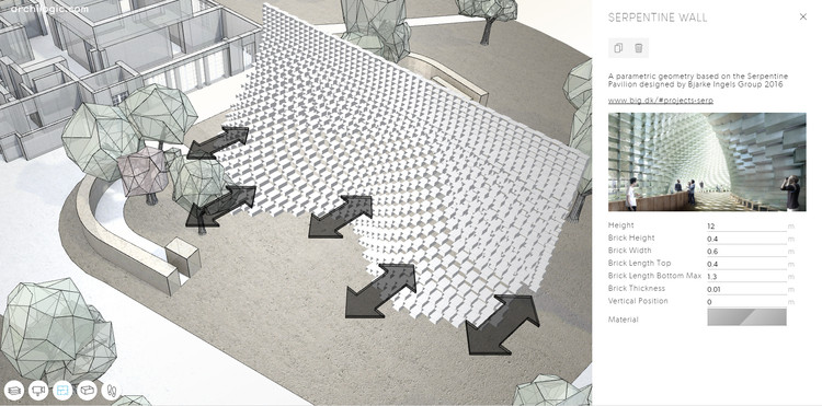 Play With a Parametric Version of BIG's Serpentine Pavilion in this Model, Courtesy of Archilogic