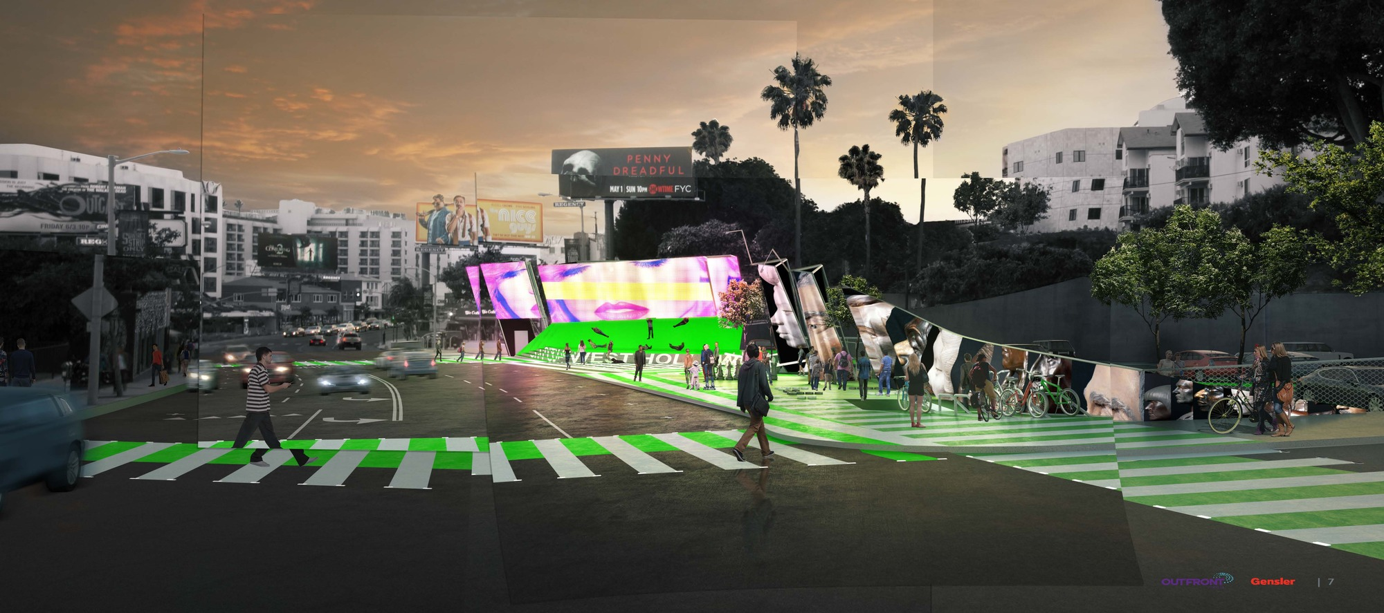 Gallery of sunset strip billboard competition finalists - Architecture interieurs contemporains sunset strip ...